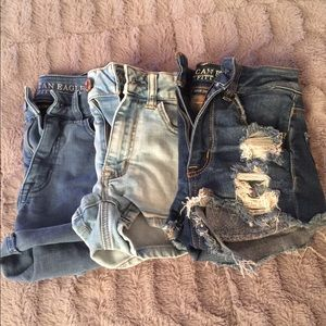 3 Pairs American Eagle Jean Shorts